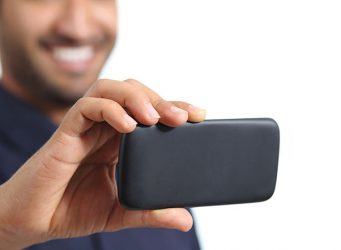 Business Man With Smart Phone Camera